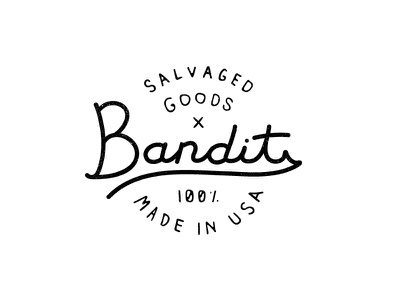 Bandits Badge badge mark logo made in usa scoundrel 100 hand crafted salvaged goods bandits