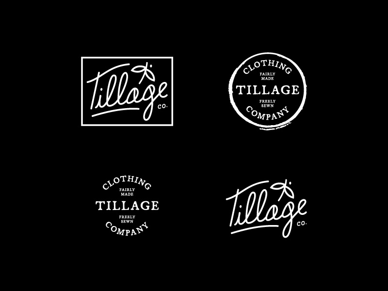 Tillage Clothing Co. badges stamps logos branding company clothing tillage