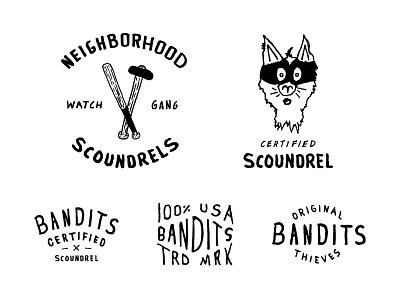 Certified Scoundrels ® branding badge mark logo certified original scoundrel bandits