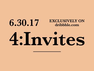 4:Invites | Dribbble