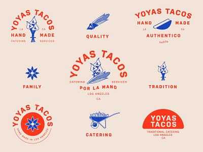 Yoyas Tacos california los angeles tacos hand made typography marks logos branding