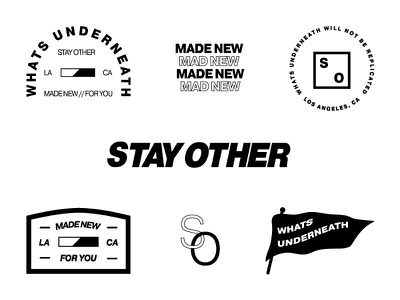 Stay Other typography logos branding