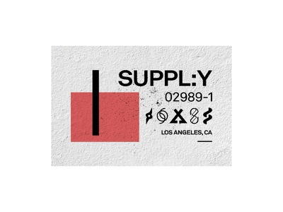 Supply | Los Angeles symbols texture print layout typography