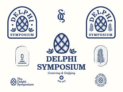 The Delphi Symposium typography logos branding