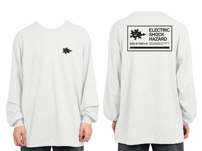 "Warning Collection / ""SHOCK HAZARD"" collection labels warning type fashion apparel branding"