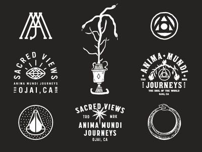 Anima Mundi Journeys anima mundi apparel california typography logos branding