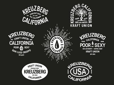 Kreuzberg California coffee badge mark apparel california typography branding