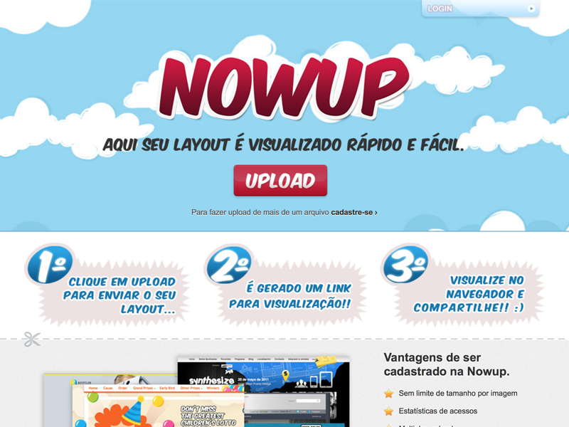 Nowup print website gallery layout agency