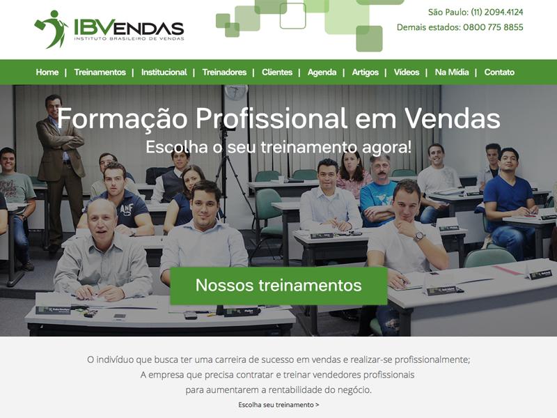 IBVendas - Instituto Brasileiro de Vendas layout website design sales company
