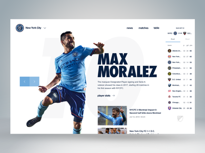 MLS Portal sketch mls major league soccer new york city football soccer website web interface ux ui