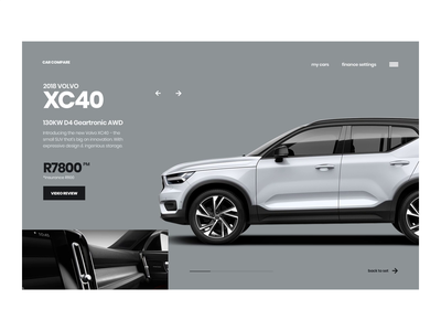 Car Compare Transitions mp4 scroll animation volvo automotive typography principle scroll car website web interface ux ui