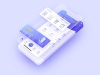 Homescreen of Walli - eWallet app concept