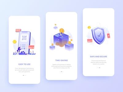 E-Wallet App Onboarding Screens