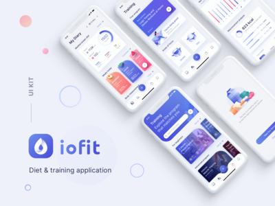 Diet & Training App UI Kit