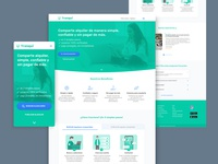 Tranqui Webapp | Homepage prototype webapp roommate uxui ux acamica
