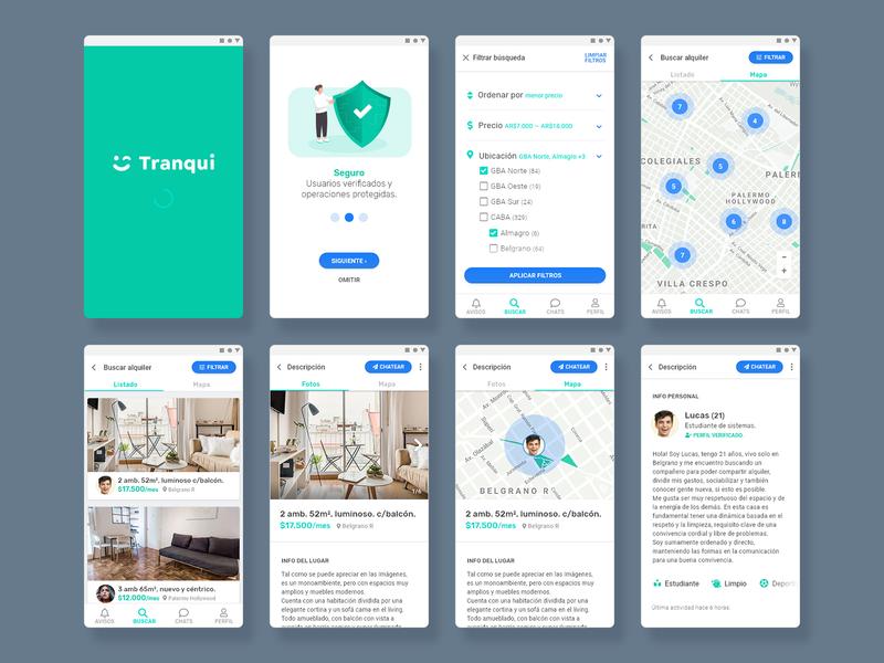 Tranqui App | Android android ui ux uiux app tranqui acamica roommate