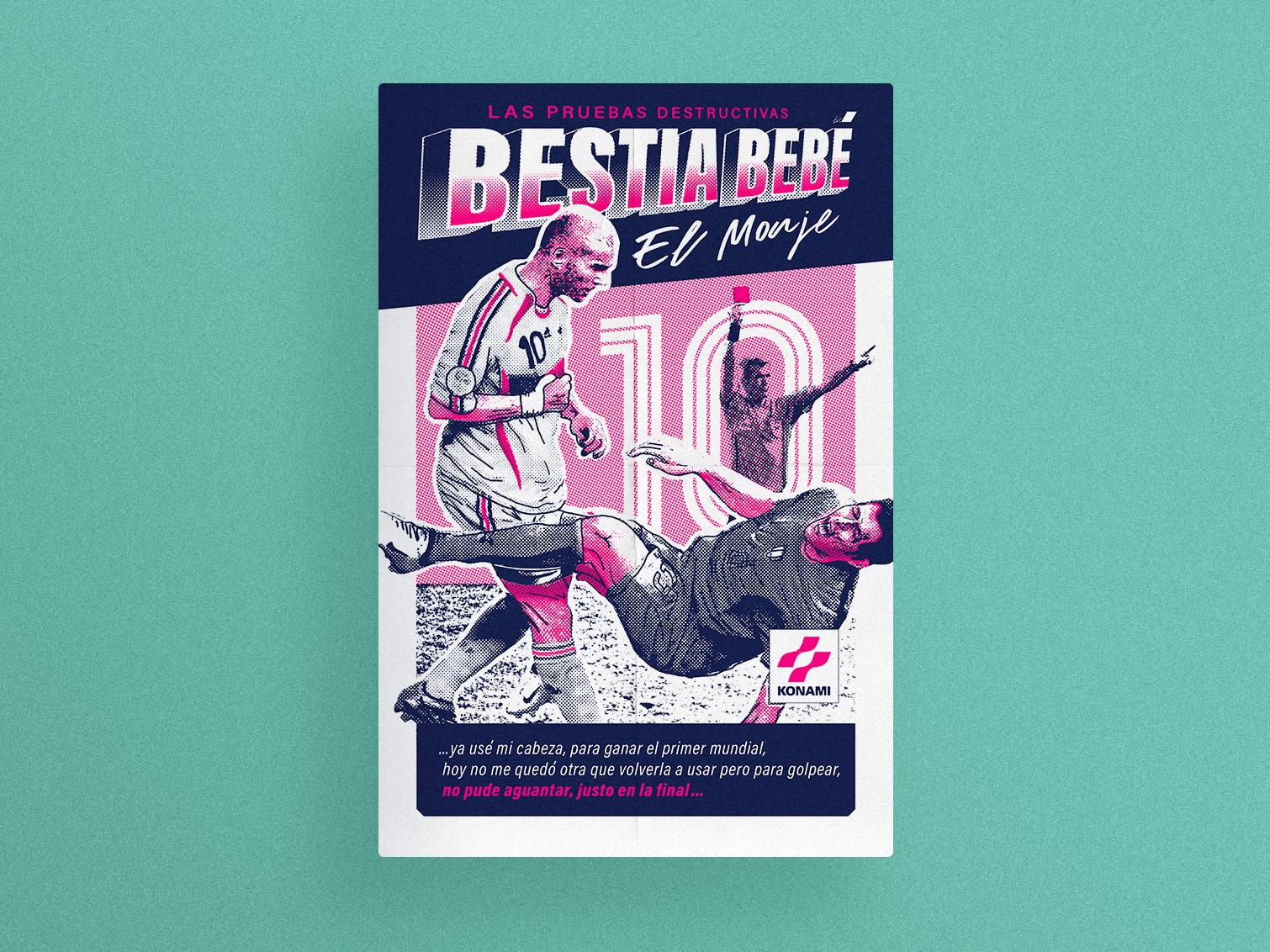 Bestia Bebé — El Monje first shot world cup france bestia bebe zidane poster print silkscreen