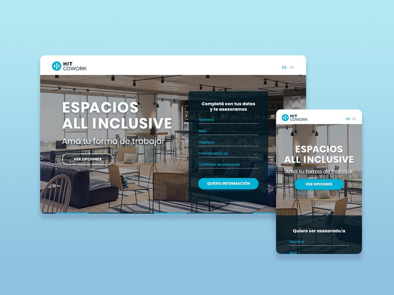 HIT COWORK | Landing Page second shot coworking space coworking landing page