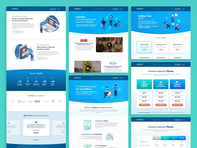 emBlue  |  Website Institucional Global website omnichannel marketing hub