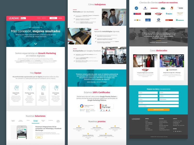 Leadaki | Corporate Website digital brandformance website marketing