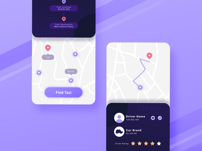 Simple Taxi App Interface uidesign uxui onboarding creative purple uiux user interface ux taxi app taxi illustration ui vector illustration illustrations