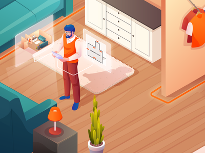 Room scan illustration project interior 3d character vector isometric illustration isometric flat illustration illustration vector illustration illustrations
