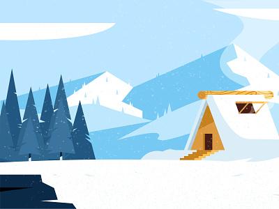 Winter Landscape Illustrations landscape illustration landscape illustration christmas snow winter winter is coming vector flat illustration vector illustration illustrations