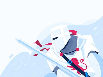 Winter knights Illustration design vector sword war warrior cold vector illustration winter knights character flat illustration illustration illustrations