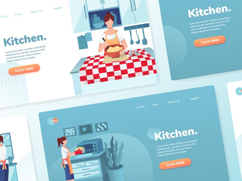 Kitchen Activities Illustration Set kitchen ui kits vector illustration illustrations illustration kit app web ux ui illustration