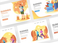 Summer Landing Page Template Collection