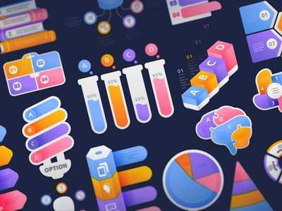 Education Infographic Design Set with Sweet Color