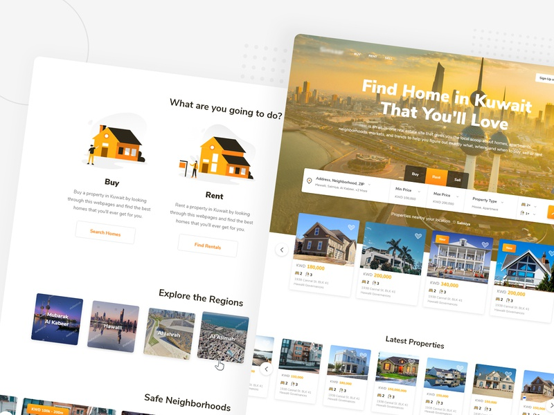 Real Estate Listings UI Project by Greative on Dribbble