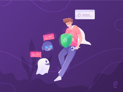 Antivirus Protection Illustration Concept