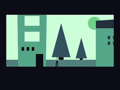 Video Game Town design nintendo gamedev flat design gameart illustrator vector illustration