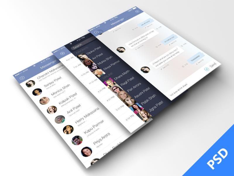 Facebook Messenger For iOS 7  ios7 facebook app free