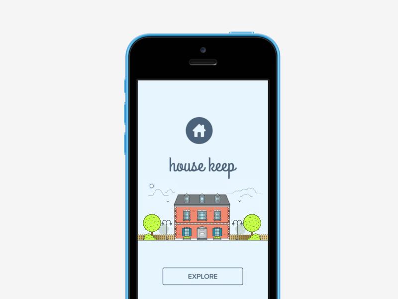 House Keep ios ios7 ios8 iphone house home mobile ui ux