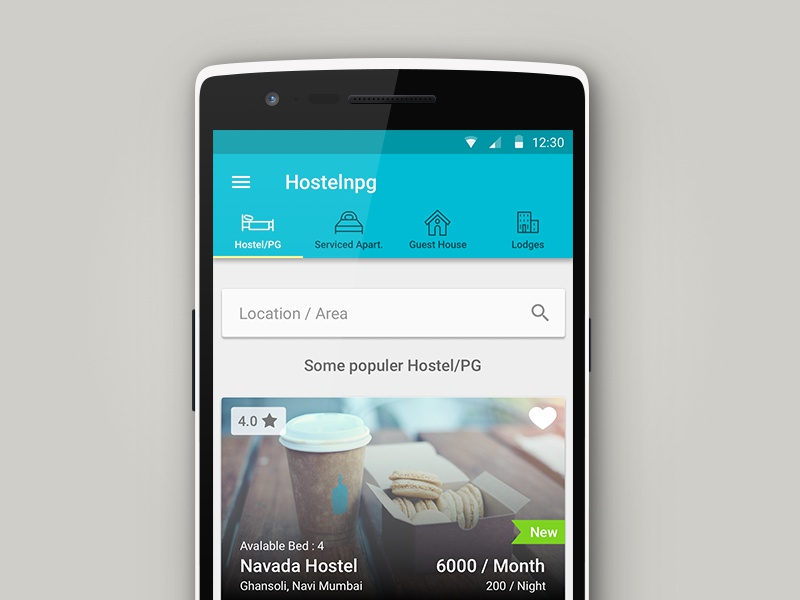 Hostelnpg lollipop android ux ui mobile