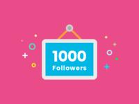 Dribbble 1000 Followers