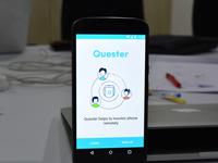 Landing screen for Quester App