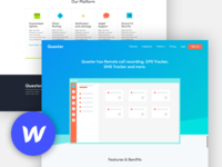 Quester website template for Webflow.
