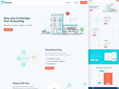 Bearbook Landing page accounting ui landing page