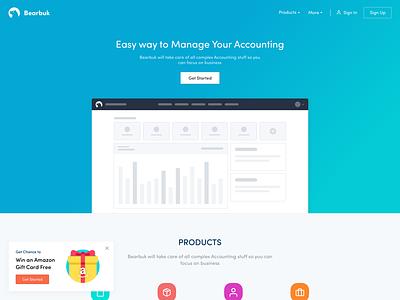 Bearbook Landing Page [Updated] hero home accounting landing page bearbuk