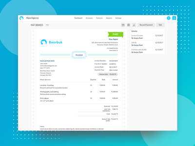 Invoice Preview saas desktop web bearbook accounting invoice