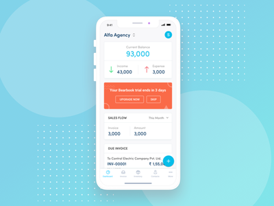 Bearbook Mobile App Dashboard accounting iphonex ios11 bearbook app dashboard