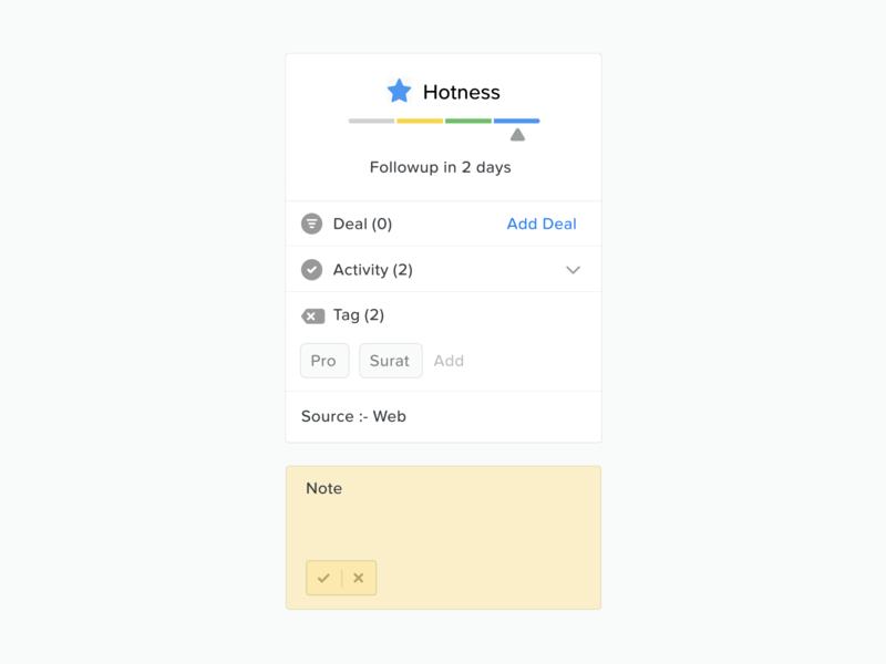 Contact Widgets - Bearbook CRM dashboard crm widgets ux ui