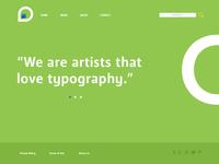 Simple typographic webpage