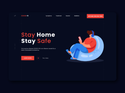 COVID-19 landing page concept.