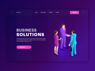 Business Solution Landing page Template business solution landing page business solution business