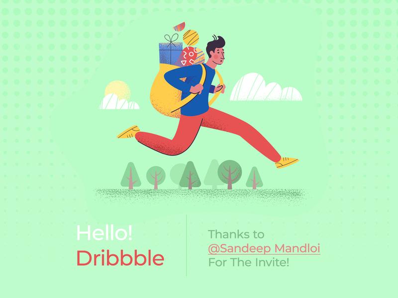 Hello Dribbble! i am new dribbble dribbbler invite design invite thankyou shot thankyou dribble shot dribbble invite hello shot hello
