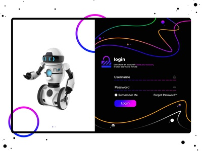 Version_2.0 | Robot Ai Login Concept